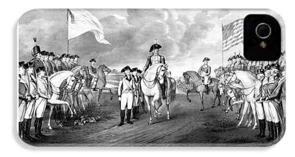 Surrender Of Lord Cornwallis At Yorktown IPhone 4 Case by War Is Hell Store