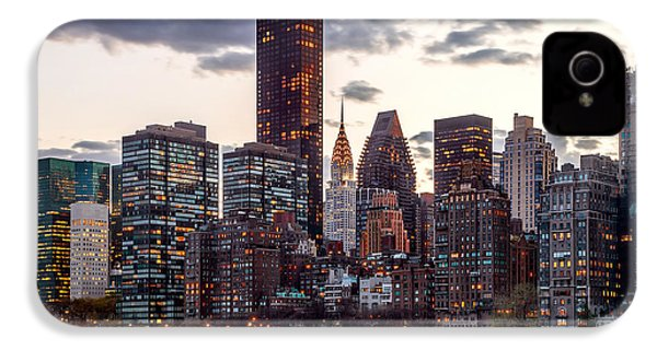 Surrounded By The City IPhone 4 Case by Az Jackson
