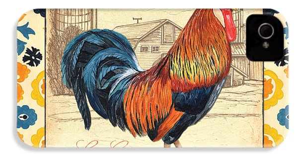 Suzani Rooster 2 IPhone 4 Case