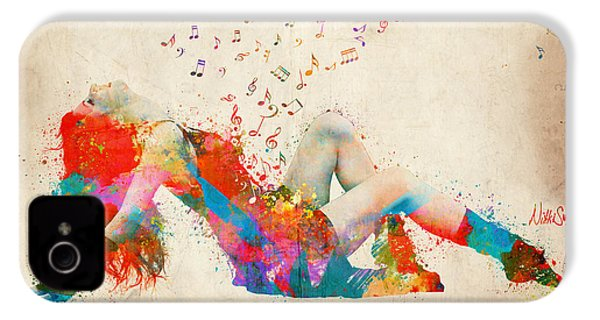 Sweet Jenny Bursting With Music IPhone 4 Case by Nikki Smith