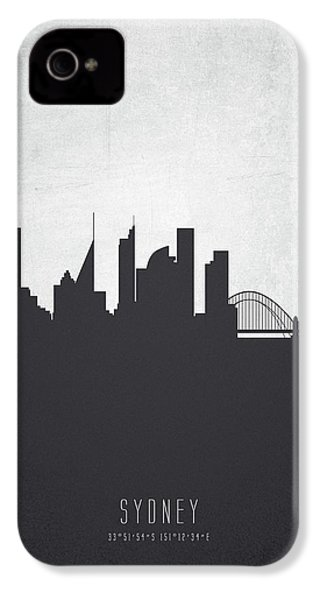 Sydney Australia Cityscape 19 IPhone 4 Case by Aged Pixel