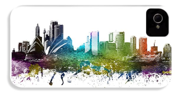 Sydney Cityscape 01 IPhone 4 Case by Aged Pixel