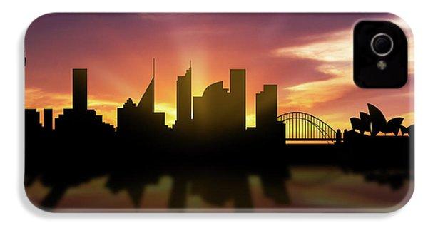 Sydney Skyline Sunset Ausy22 IPhone 4 Case by Aged Pixel