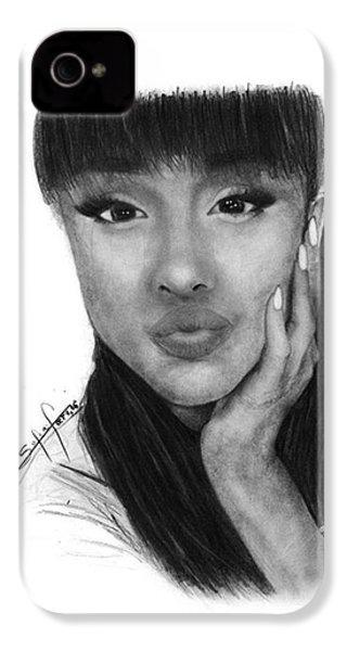 Ariana Grande Drawing By Sofia Furniel IPhone 4 Case