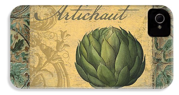 Tavolo, Italian Table, Artichoke IPhone 4 Case by Mindy Sommers