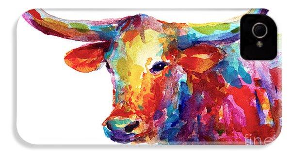 Texas Longhorn Art IPhone 4 / 4s Case by Svetlana Novikova