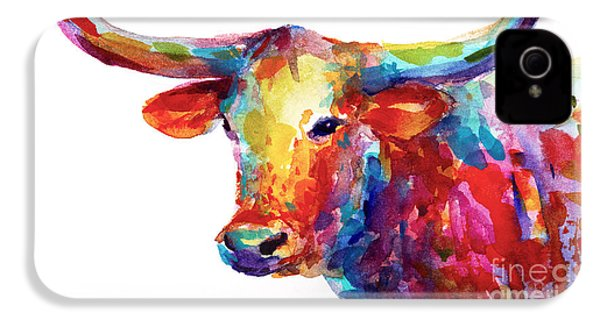 Texas Longhorn Art IPhone 4 Case