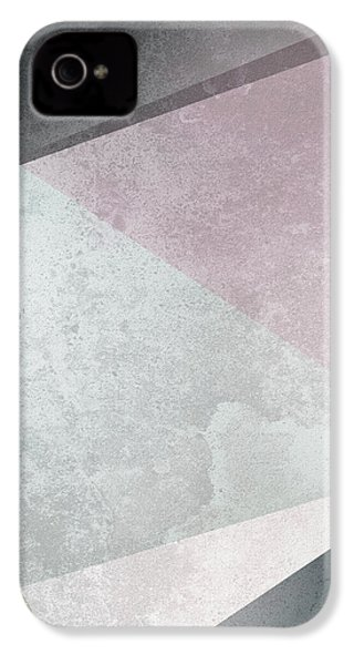 Textured Geometric Triangles IPhone 4 Case by Pati Photography
