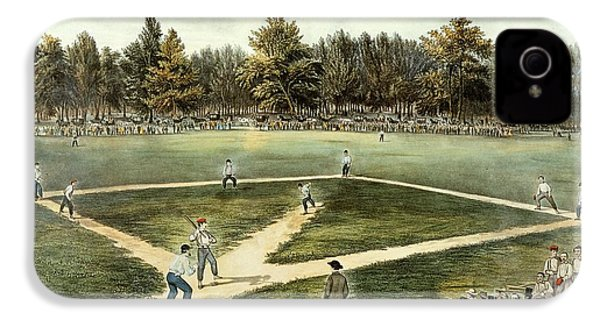 The American National Game Of Baseball Grand Match At Elysian Fields IPhone 4 Case