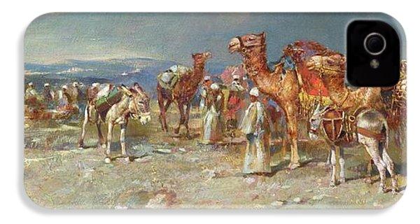 The Arab Caravan   IPhone 4 Case by Italian School