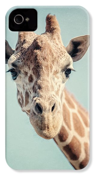The Baby Giraffe IPhone 4 Case by Lisa Russo
