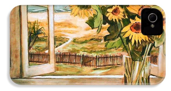 The Beach Sunflowers IPhone 4 Case by Winsome Gunning