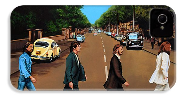 The Beatles Abbey Road IPhone 4 Case by Paul Meijering