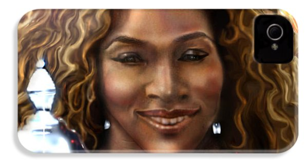 The Beauty Victory That Is Serena IPhone 4 Case by Reggie Duffie