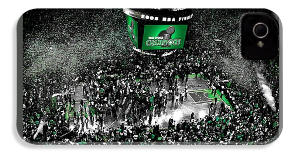 The Boston Celtics 2008 Nba Finals IPhone 4 Case by Brian Reaves