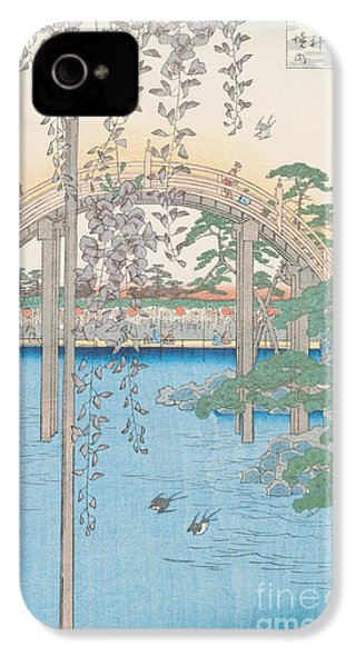 The Bridge With Wisteria IPhone 4 Case by Hiroshige