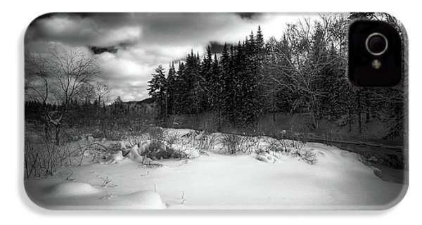 IPhone 4 Case featuring the photograph The Calm Of Winter by David Patterson