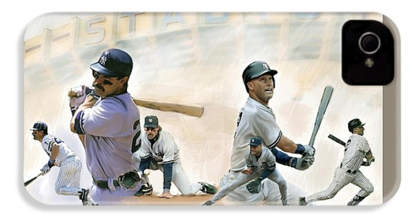 The Captains II Don Mattingly And Derek Jeter IPhone 4 Case by Iconic Images Art Gallery David Pucciarelli