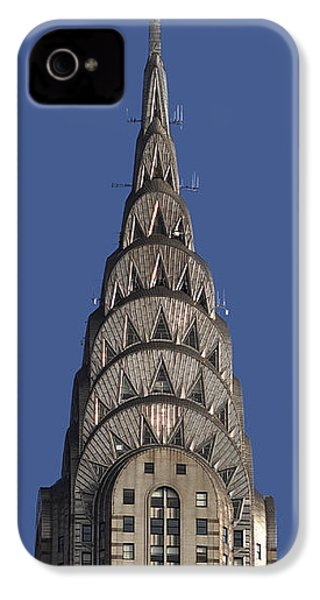 The Chrysler Building - Deco Detail IPhone 4 / 4s Case by Rona Black
