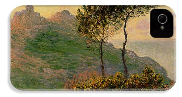 The Church At Varengeville Against The Sunlight IPhone 4 Case by Claude Monet