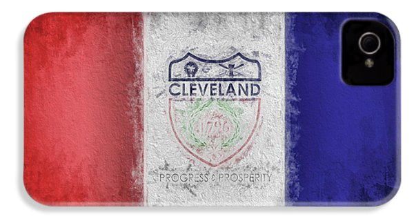 IPhone 4 Case featuring the digital art The Cleveland City Flag by JC Findley