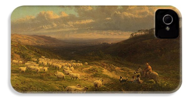 The Closing Day, Scene In Sussex IPhone 4 Case by George Vicat Cole