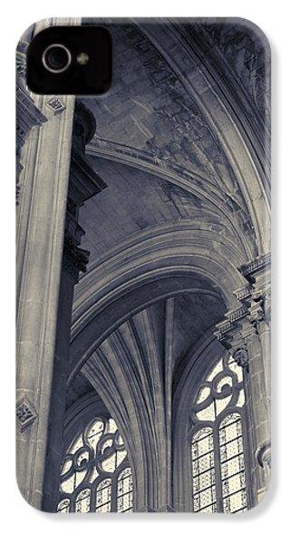 The Columns Of Saint-eustache, Paris, France. IPhone 4 Case by Richard Goodrich