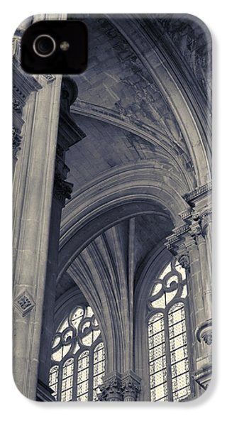 IPhone 4 Case featuring the photograph The Columns Of Saint-eustache, Paris, France. by Richard Goodrich