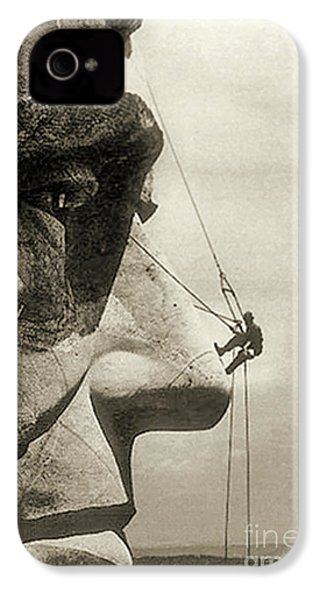 The Construction Of The Mount Rushmore National Memorial, Detail Of Abraham Lincoln,1928  IPhone 4 Case by American School