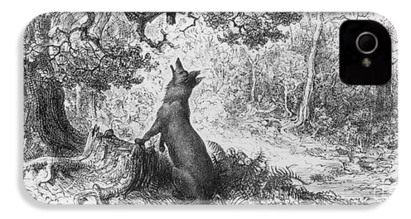 The Crow And The Fox IPhone 4 / 4s Case by Gustave Dore