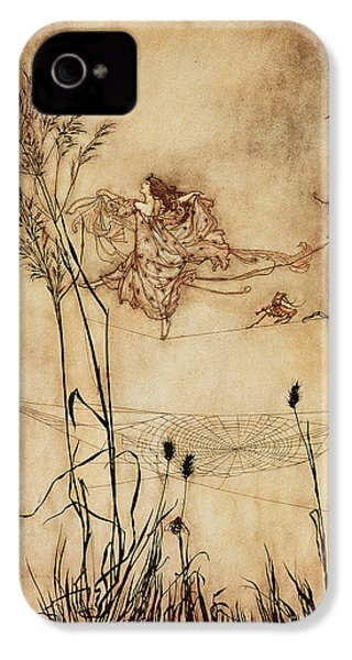 The Fairy's Tightrope From Peter Pan In Kensington Gardens IPhone 4 Case by Arthur Rackham