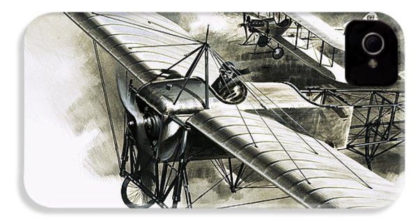 The First Reconnaissance Flight By The Rfc IPhone 4 / 4s Case by Wilf Hardy