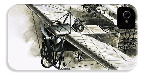 The First Reconnaissance Flight By The Rfc IPhone 4 Case by Wilf Hardy