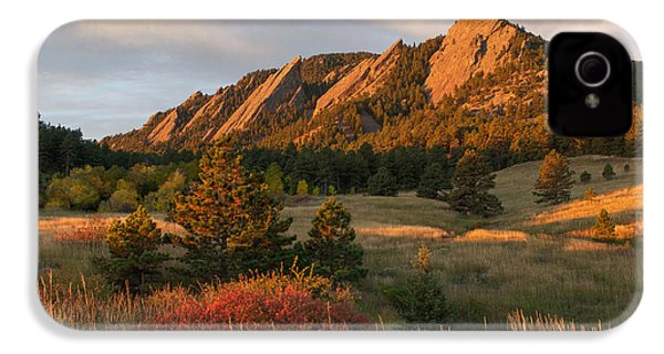 The Flatirons - Autumn IPhone 4 Case by Aaron Spong