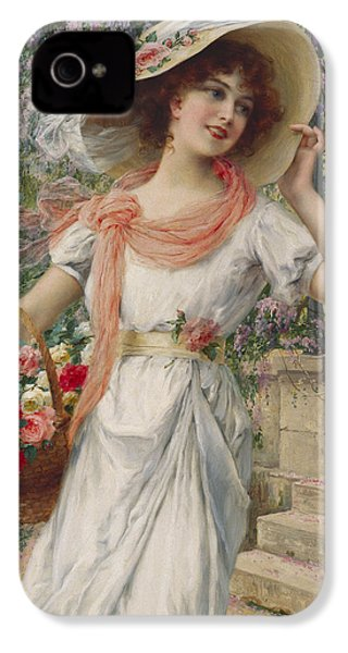 The Flower Girl IPhone 4 Case by Emile Vernon