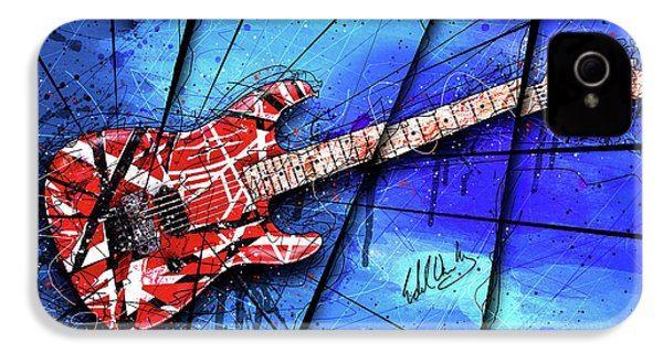 The Frankenstrat On Blue I IPhone 4 / 4s Case by Gary Bodnar
