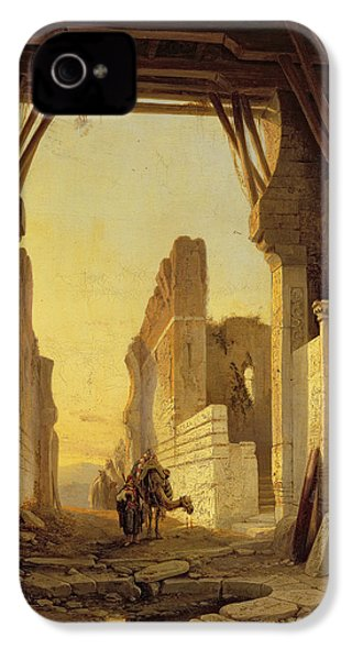 The Gates Of El Geber In Morocco IPhone 4 Case by Francois Antoine Bossuet