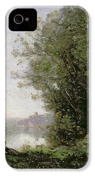 The Goatherd Beside The Water  IPhone 4 Case by Jean Baptiste Camille Corot