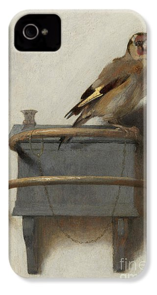 The Goldfinch, 1654  IPhone 4 Case by Carel Fabritius