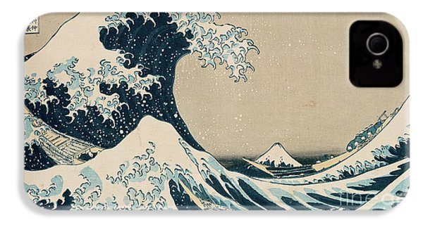 The Great Wave Of Kanagawa IPhone 4 Case by Hokusai