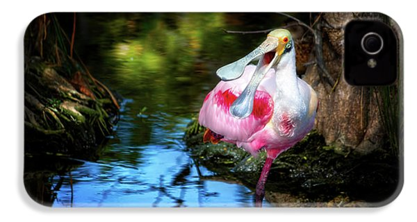 The Happy Spoonbill IPhone 4 Case by Mark Andrew Thomas
