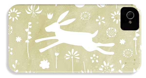 The Hare In The Meadow IPhone 4 Case by Nic Squirrell