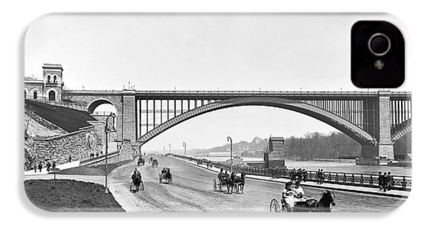 The Harlem River Speedway IPhone 4 Case by William Henry jackson