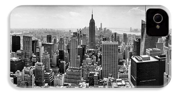 New York City Skyline Bw IPhone 4 Case by Az Jackson