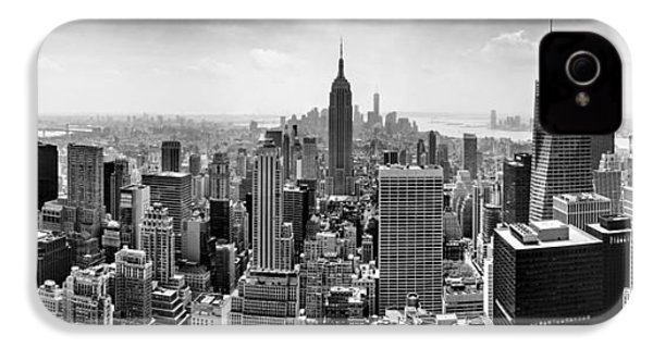 New York City Skyline Bw IPhone 4 Case by Az Jackson