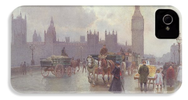 The Houses Of Parliament From Westminster Bridge IPhone 4 Case by Alberto Pisa