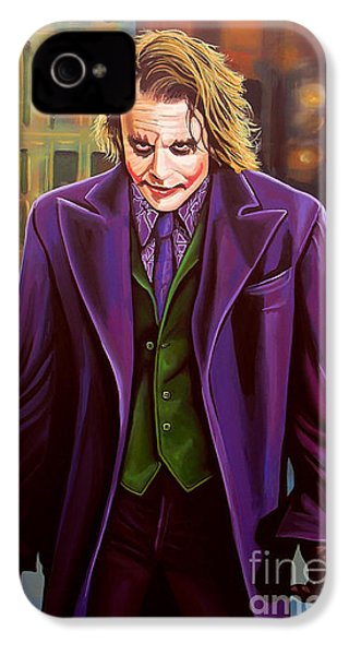 The Joker In Batman  IPhone 4 Case by Paul Meijering