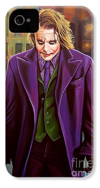 The Joker In Batman  IPhone 4 / 4s Case by Paul Meijering