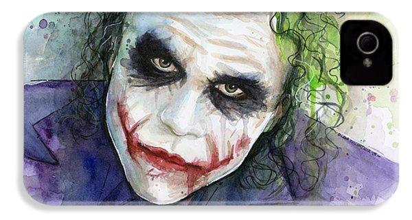 The Joker Watercolor IPhone 4 Case