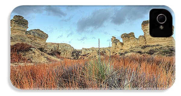 IPhone 4 Case featuring the photograph The Kansas Badlands by JC Findley